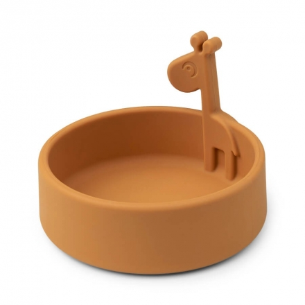 Done by Deer Silicone bowl Raffi mustard