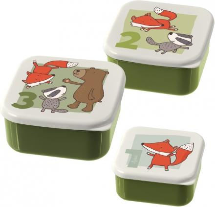 Sigikid 24988 Snack box Set Forest Friends 3pcs.