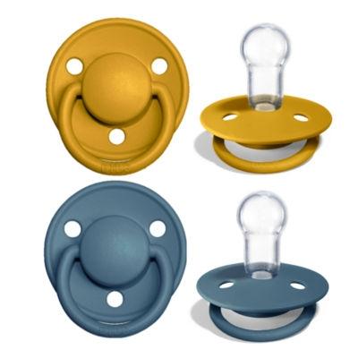 BIBS de lux pacifier silicone mustard/petrol 0-36 month