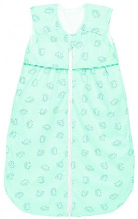 Odenwälder Jersey Sleeping bag Anni light 80 cm Hedgehogs mint