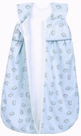 Odenwälder Jersey Sleeping bag Anni light 90 cm Hedgehogs grey