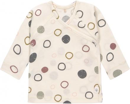 Lässig Kimono Shirt GOTS 50/56 Circles off-white