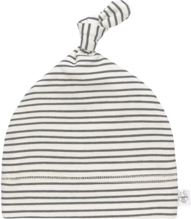 Lässig Beanie GOTS 62/68 Striped grey/anthracite
