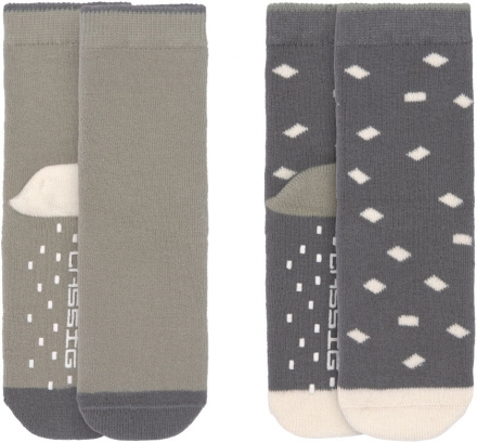 Lässig Anti-Slip Socks GOTS 19-22 anthracite/olive