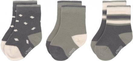 Lässig Socks GOTS 0-4 months anthracite/olive