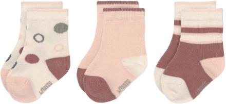 Lässig Socks GOTS 0-4 months white/pink/rust