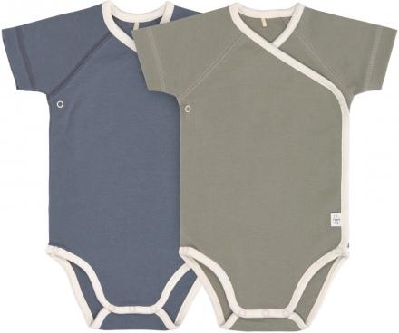 Lässig Short Sleeve Body GOTS 2pcs. 62/68 blue/olive