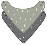 Lässig Banada GOTS 2pcs Set Speckles olive/ Spots anthracite