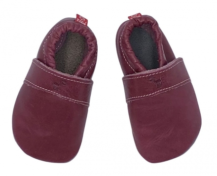 Anna and Paul leather toddler Uni plum size L-22