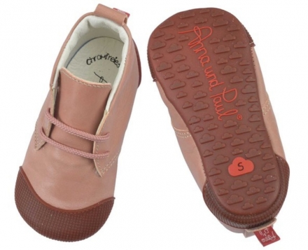 Anna and Paul Robbi Leather toddler shoe with rubber sole S-18/19