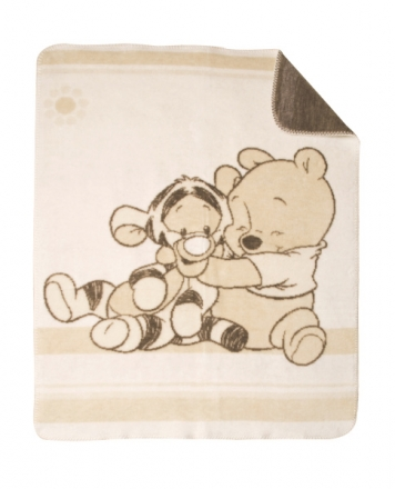 Zöllner Jacquard Decke gewebt Disney Pooh + Tiger