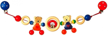 Kinderwagenkette Herzbärchen von Heimess 732410