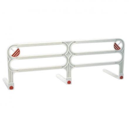 Bettschutzgitter ausziehbar 110-150 cm weiß/rot