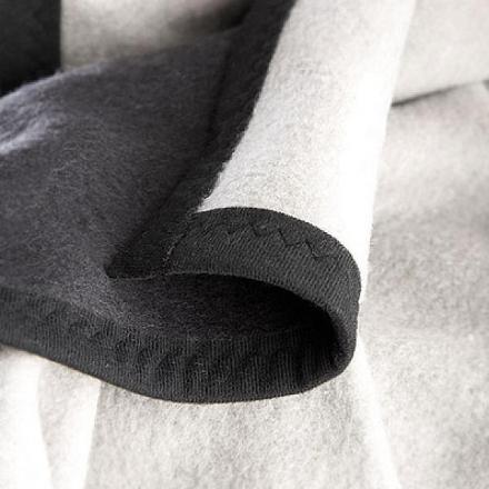 ALVI Babydecke Baumwolle schwarz/grau 75x100 cm (Alvi)