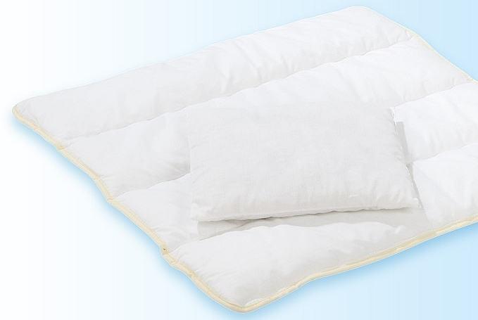 alvi 93301 diolensteppbett mit kissen 80x80 cm. Black Bedroom Furniture Sets. Home Design Ideas