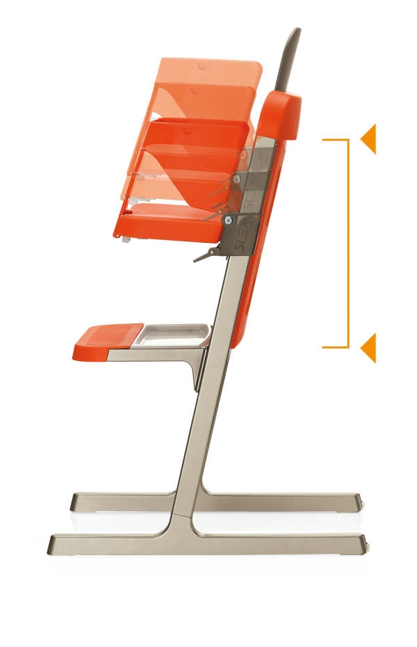 brevi 212006 slex evo hochstuhl wei. Black Bedroom Furniture Sets. Home Design Ideas