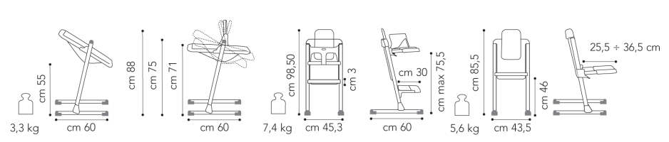 brevi 212628 slex evo hochstuhl candy pink. Black Bedroom Furniture Sets. Home Design Ideas