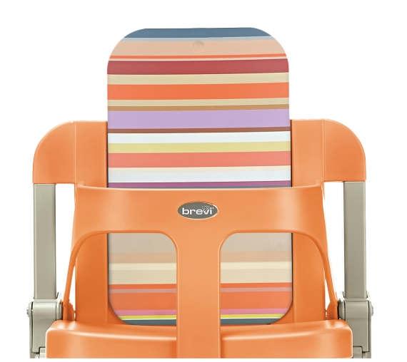 brevi 212627 slex evo hochstuhl pumpkin orange. Black Bedroom Furniture Sets. Home Design Ideas