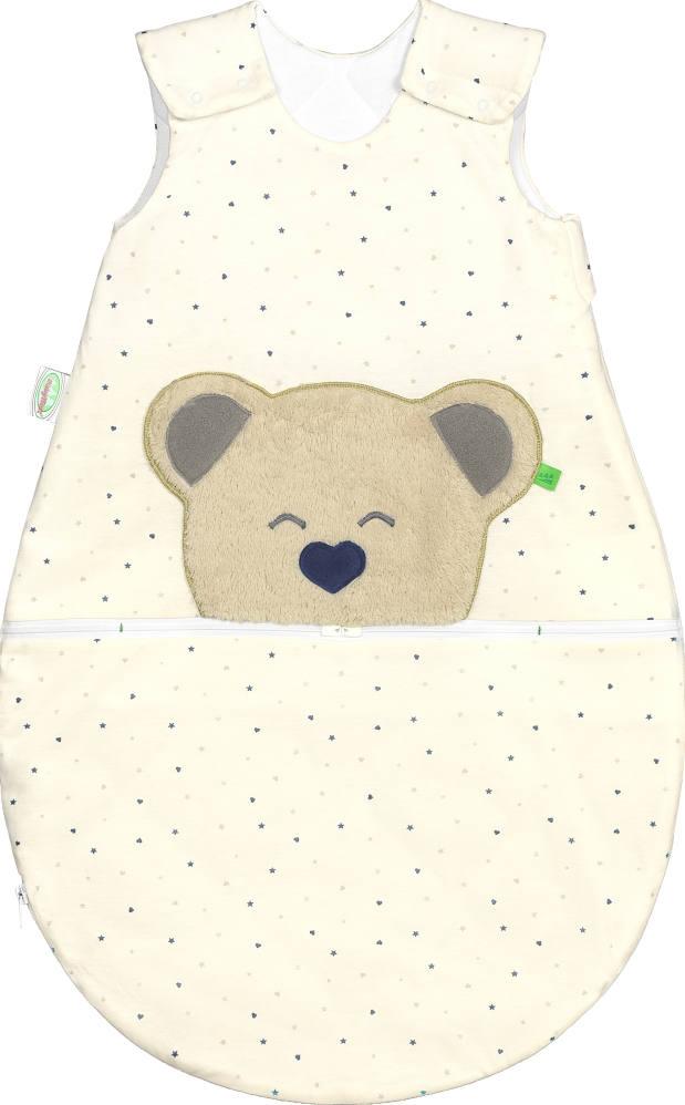 Babyschlafsack mit variabler Lüftungsöffnung