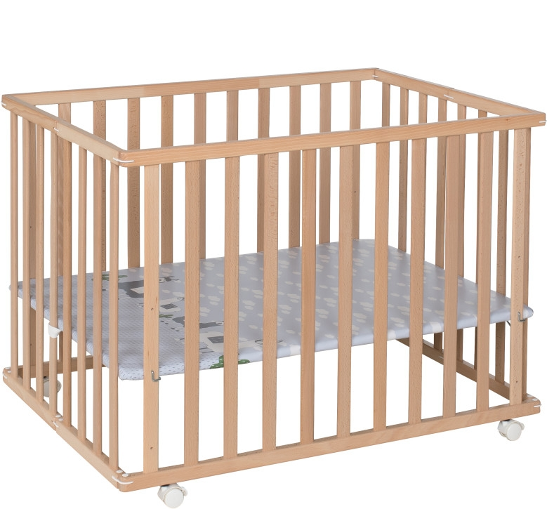 Höhenverstellbarer Laufstall für Babys