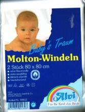 Alvi Molton Windeln weiß 93812