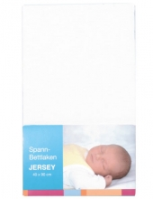 Baby Plus bed sheet jersey white 40x90cm
