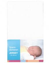 Baby Plus Spannbettlaken Jersey weiß 40x90cm