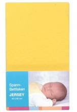Baby Plus Spannbettlaken Jersey gelb 40x90cm