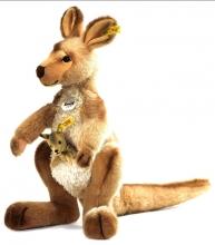 Steiff Känguru Kango mit Baby 40 beige stehend