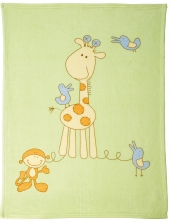 Alvi Microfaser Baby Decke Giraffe 75 x 100 cm 931841533