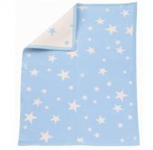 Zöllner Babydecke Sterne blau 75/100cm 4100-01 Baumwolle