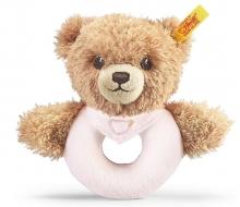 Steiff 239557 Schlaf Gut Bär Greifring rosa 12 cm