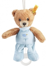 Steiff Sleep-well-bear musical toy 20 blue