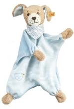 Steiff 239694 Gute Nacht Hund Schmusetuch blau 30 cm