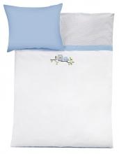 Zöllner Bettwäsche Eulen blau 80x80cm