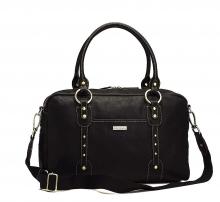 Storksak Elizabeth Black diaper bag - leather