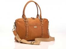 Storksak Elizabeth Tan diaper bag - leather