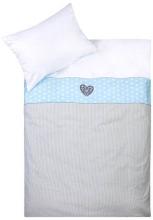 Zöllner Bettwäsche Dream Heart blau 100x135cm