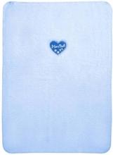 Zöllner 1466-0 blue heart cotton baby blanket 75/100
