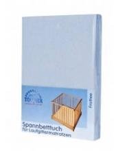 Zöllner Spannbetttuch für Laufgittermatratze Frottee uni hellblau 95/95