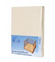 Zöllner fitted sheet for the playpen mattress uni vanille 95/95