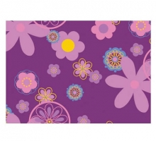 Theraline cover for nursing pillow design 75 retro flower purple