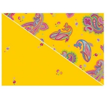 Theraline cover for nursing pillow design 60 paisley yellow