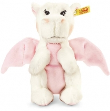Steiff 015113 Rosali Baby Drache 20 weiß/rosa stehend