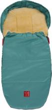 Kaiser 6720563 Lammfellfußsack Lenny medi super light jeans green turqouise