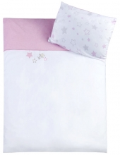 Zöllner bedding w. application stars rose 80x80cm
