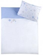Zöllner bedding w. application stars blue 80x80cm