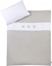 Zöllner bedding w. application hour of stars taupe 80x80cm