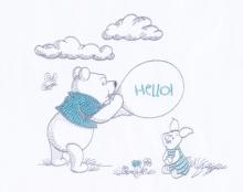 Zöllner Bettwäsche m. Applikation Hello Pooh 80x80cm