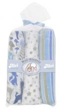 Alvi 9381661 burp cloth blue 80x80cm